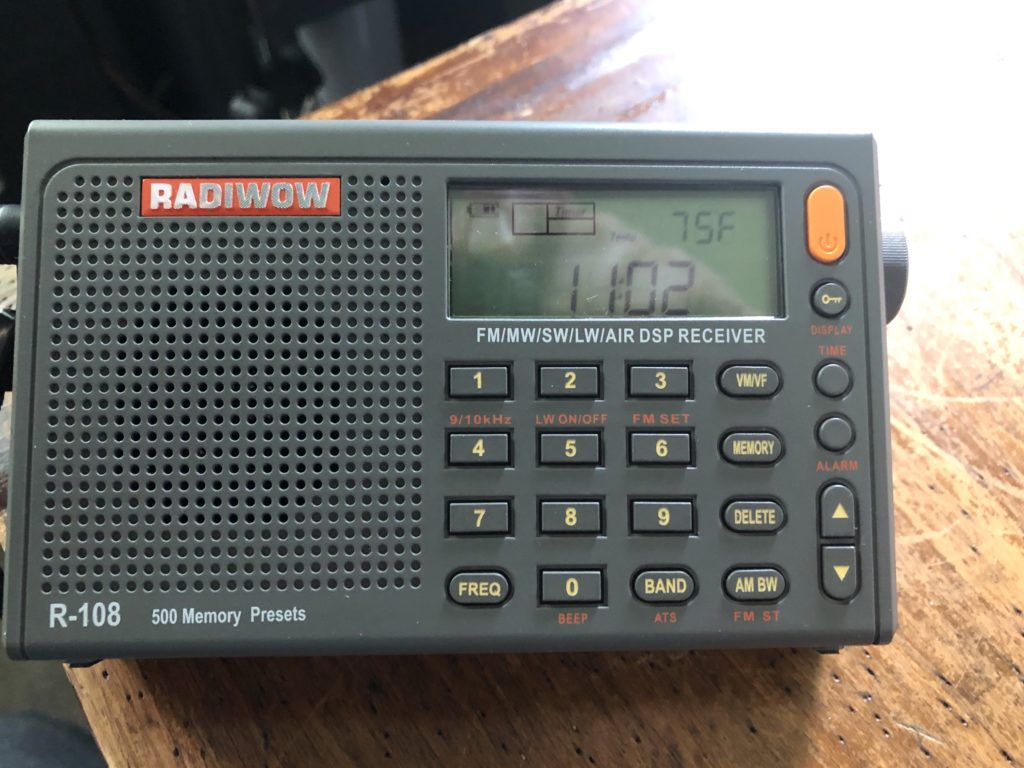A radio that has shortwave capabilities.